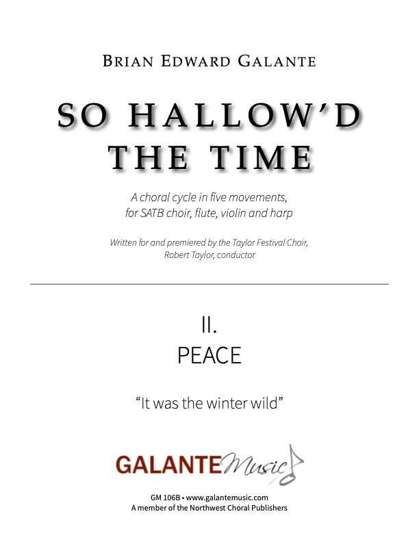 So Hallow'd the Time, No. 2: Peace